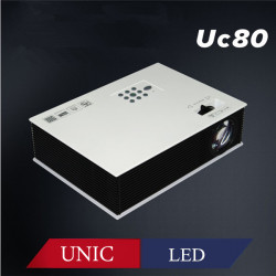 UNIC UC80 1500 LM 800x600 HD Led Projektor med HDMI Support 1080P
