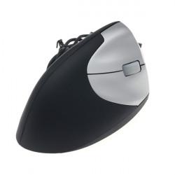 USB 1600dpi Vertical Trådbunden Mouse Optisk Mus Black + Silver