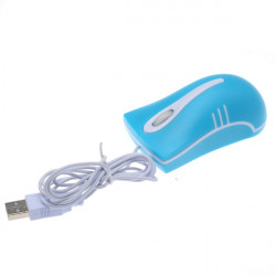 USB2.0 800dpi Mini Wired Mouse Optical Mouse Blue