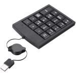 USB Mini 19 Keys Numerisk Numeriska Tangentbordet Slim Infällbart Tangentbord Tangentbord & Mus