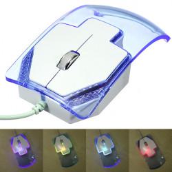 USB Kabling Optisk 7 Farver Ændring LED Mus