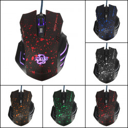 WEYES USB 1600 DPI 6 Keys Optical Wired Gaming Mouse