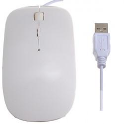 Vit USB Optisk Möss Mus för Bärbar PC Notebook