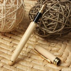 Wooden Reaationary Fountain Ballpoint Pen