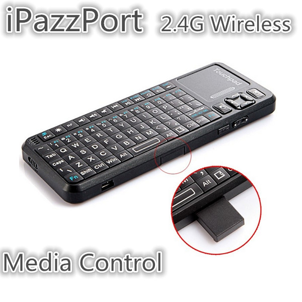 iPazzPort Mini 2.4GHz Trådlös Tangentbord med USB-sändtagare Tangentbord & Mus