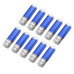 10 x 128MB USB 2.0 Flash Drive Candy Blå hukommelse opbevaring Thumb U Disk Harddiske & Opbevaring