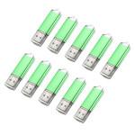 10 x 128MB USB 2.0 Flash Drive Candy Green Memory Storage Thumb U Disk Drives & Storage