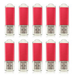 10 x 128MB USB 2.0 Flash Drive Candy Red minneslagring Thumb U Disk