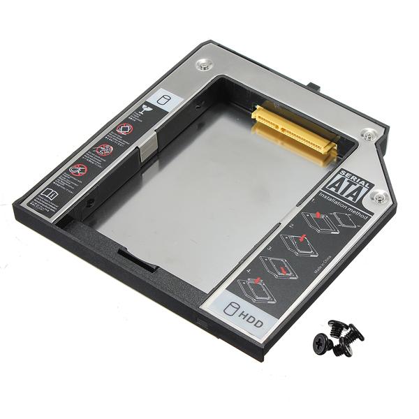 12.7mm SATA 2. HDD Festplatte Caddy für IBM Lenovo Thinkpad T420 T510 Laufwerke & Speicherung