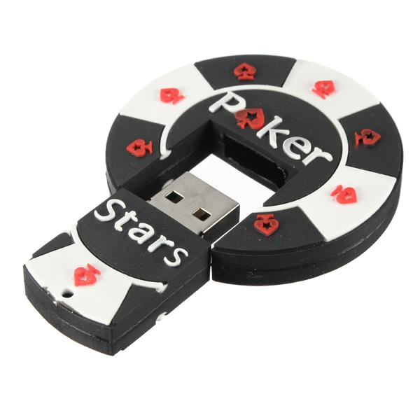 16GB Cartoon Poker Model Flash Drive USB 2.0 Pen Memory U Stick Drives & Storage