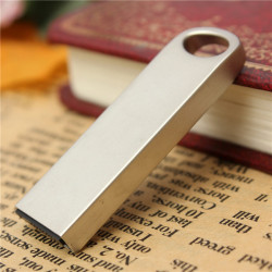 16GB Portabel Mini Metal USB-minne Silver USB2.0 Stick Memory U Disk