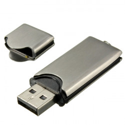 16GB Silver Metal Flash Drive USB2.0 Hukommelse