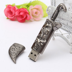 16GB USB 2.0 Metal Mongolia Style Flash Drive Storage Memory U Disk