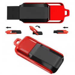 16GB USB 2.0 Swivel Sort Og Rød Hukommelse Pen