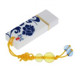 2G 4G 8G Blått och Vitt Porslin USB 2.0-Minnen