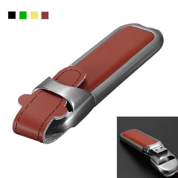 32GB Leather USB 2.0 Flash Drive Memory Pen U Disk Drives & Storage