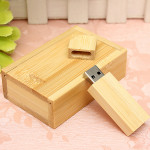4G/8G/16G/32G Wooden USB 2.0 Flash Drive Bamboo U Disk + Wood Case Drives & Storage