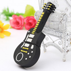 4GB Cute Sort Guitar Style Hukommelse USB 2.0 Stick