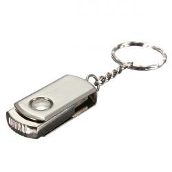 64G Metallschwenker USB 2.0 Flash Laufwerk Schlüsselanhänger Stift u Festplatte
