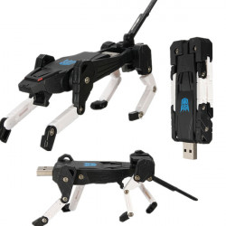 8GB Black Transformers Dog Shape USB-minne USB 2.0 Minne U Disk