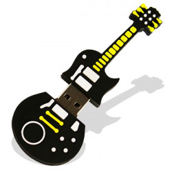 8GB Cute Black Guitar Style Flash Drive USB 2.0 Stick Memory U Disk