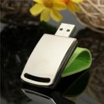 8GB Portable Mini Läder Metall USB-minne Silver USB2.0 U Disk Hårddiskar & Lagring