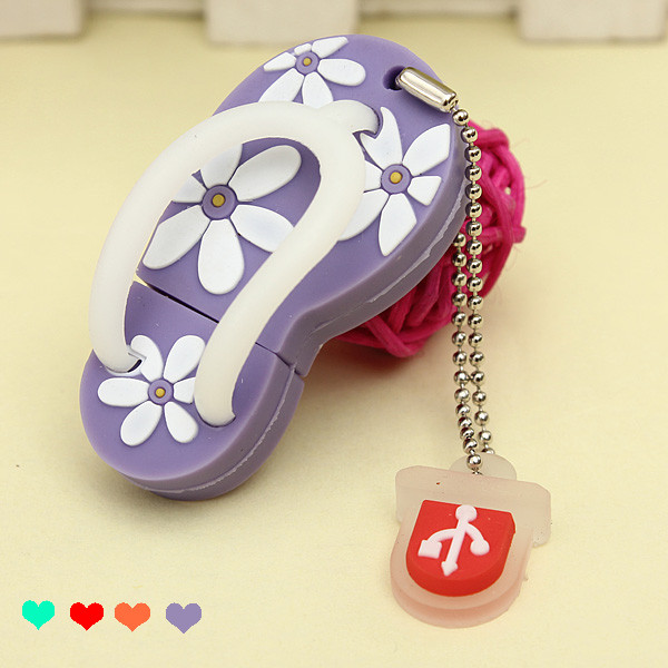 8GB Shoes Flower Cute USB 2.0 Flash Drive Pen Memory U Disk Drives & Storage