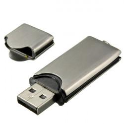 8GB Silver Metal Flash Drive USB2.0 Pen Thumb Memory U Disk