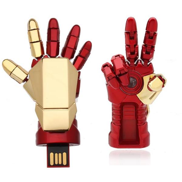 8G Iron Man Hand USB Flash Drive Metal U Disk Drives & Storage