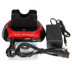 All in1 2.5 3.5Inch SATA IDE HDD Docking Station Hub Reader