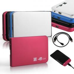 Aluminium 2.5inch USB3.0 SATA HDD Hårddisk Disk Extern Case