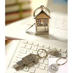 Bestrunner 16GB Mini Metal Silver House Design USB 2.0 Flash Drive U Disk