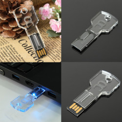 Bestrunner 16GB Transparent Akryl Key USB2.0 USB-minne U Disk