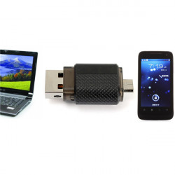 Bestrunner 4GB 2 i 1 USB til Micro USB Flash Drive til PC OTG Smart Phone
