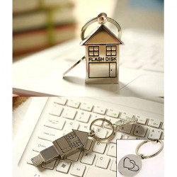 Bestrunner 4GB Mini Metal Silver House Design USB 2.0 USB-minne U Disk