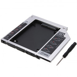 SATA 2nd HDD HD Hard Driver Caddy til 9.5mm Universal CD / DVD-ROM