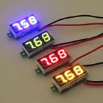 0.28 Inch 2.5V-30V Mini Digital Voltmeter Voltage Tester Meter Arduino SCM & 3D Printer Acc