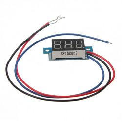 0.36 Inch Digital Voltmeter 0 - 200V Voltage Meter Gauge LED Panel Meter 3 Wire