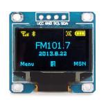 """0.96"""" 4Pin Blå Gul IIC I2C OLED Display Modul för Arduino Arduino SCM & 3D-skrivare"""