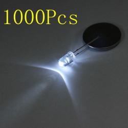 1000st 20mA F5 5mm Transparent Superstarka Vita LED Diodr