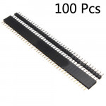 100 Pair 40 Pin 2.54mm Male Female SIL Socket Row Strip PCB Connector