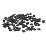 100 st Svart Mini Micro Jumper För 2.54mm Pin Header avstånd Shunt PBT UL94V-0