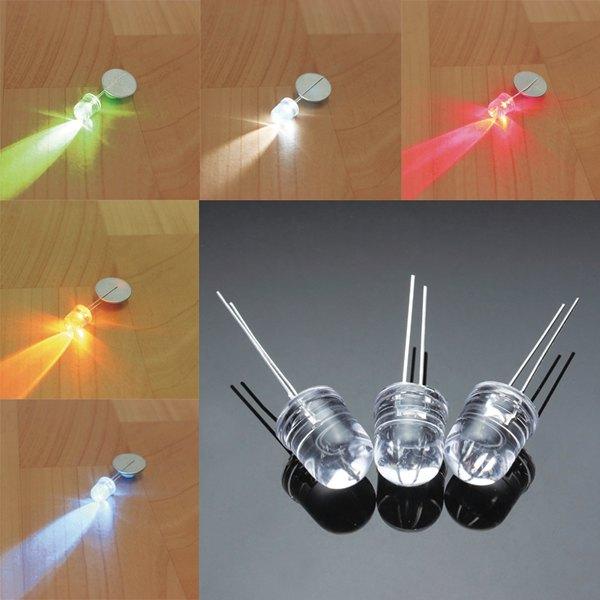 100st F10 10mm 5 Färger LED Diod Röd Vit Gul Grön Blå Arduino SCM & 3D-skrivare
