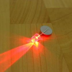 100Pcs F10 10mm Red LED Diode