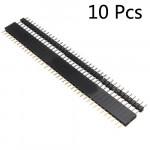 10 Paar 40 Pin 2,54 mm Männlich Weiblich SIL Sockel Row Streifen PWB Verbindungs