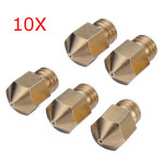 10Pcs 0.4mm 3D Printer Extruder Brass Nozzle For Makerbot MK8 Arduino SCM & 3D Printer Acc