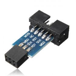 10st 10 Stift Konvertera till Standard 6pin Adapter Kort för Atmel STK500 AVRISP USBASP
