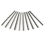 10 Pcs 40 Pin 2.54mm Single Row Male Pin Header Strip For Arduino Prototype Shield DIY