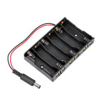 10Pcs 6*AA Battery Case Storage Holder DC2.1 Power Jack For Arduino Arduino SCM & 3D Printer Acc