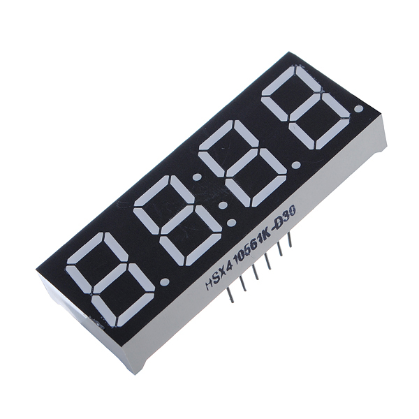 10Pcs 7-Segment 0.56 Inch 4 Digit 12 Pins Red LED Display For Arduino Arduino SCM & 3D Printer Acc